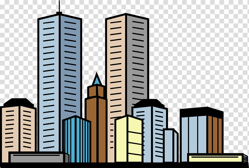 High rise illustration skyscraper. Buildings clipart corporate building