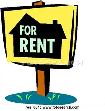 For rent sign panda. Apartment clipart clip art