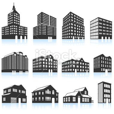 Apartment clipart condo. Buildings and condominiums black