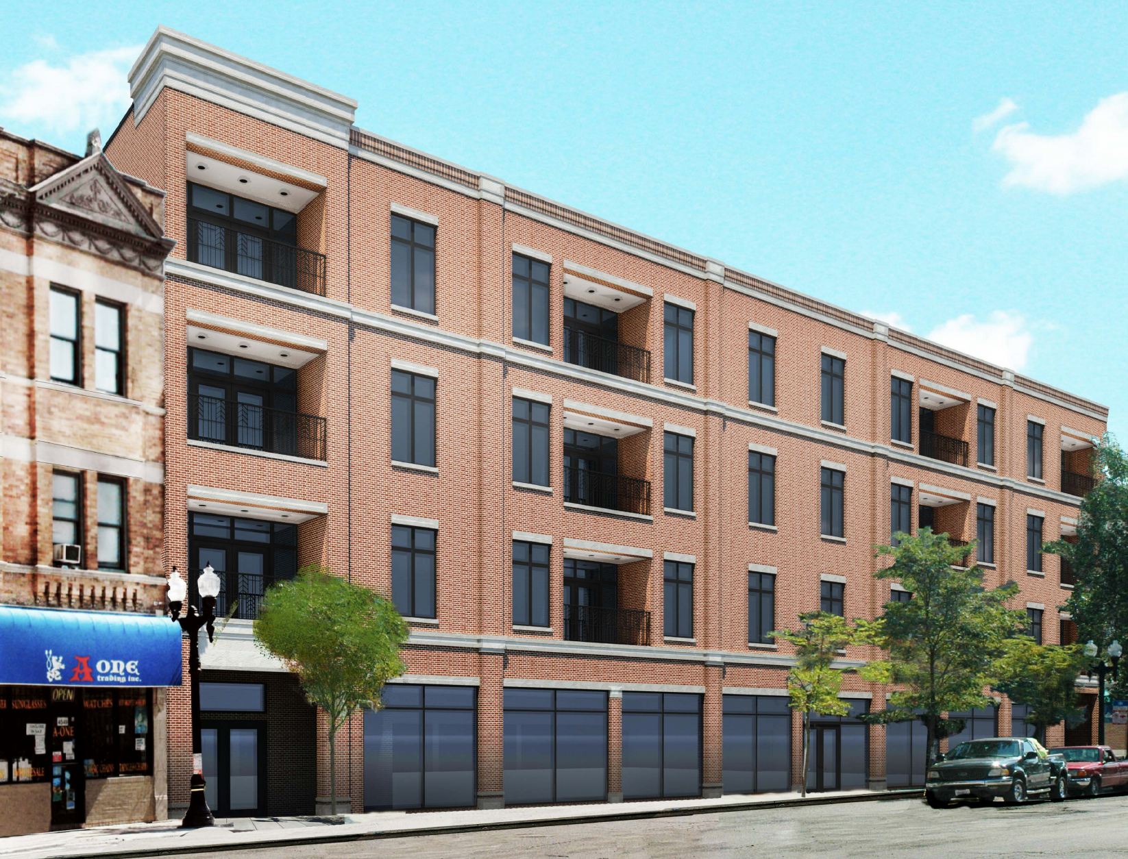 Uptown chicago curbed zoning. Apartment clipart condo