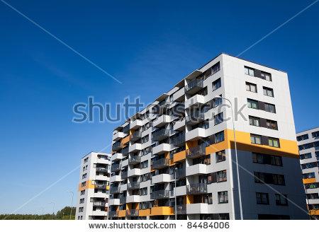 Apartment clipart condo. Complex block flat pencil