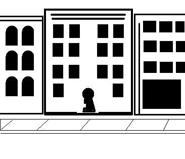 And door lock security. Apartment clipart condo
