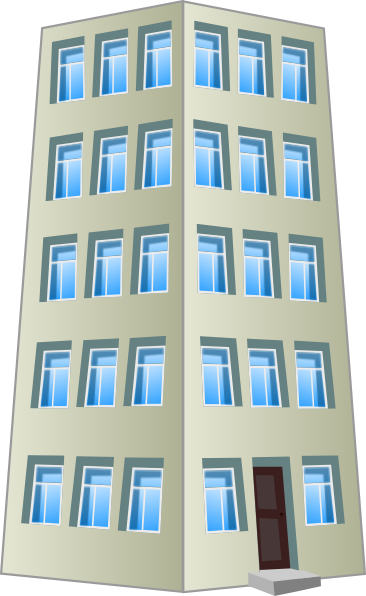 Gray clip art at. Apartment clipart corporate building