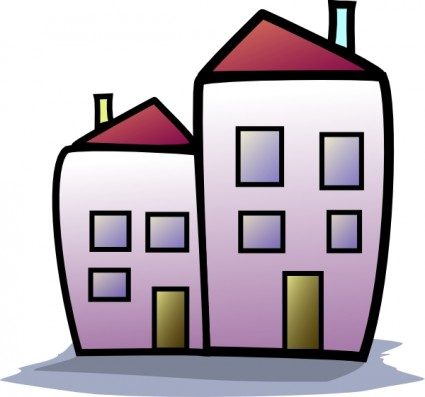 Real estate clip art. Apartment clipart cute