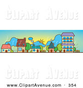 Apartment clipart cute. Royalty free stock avenue