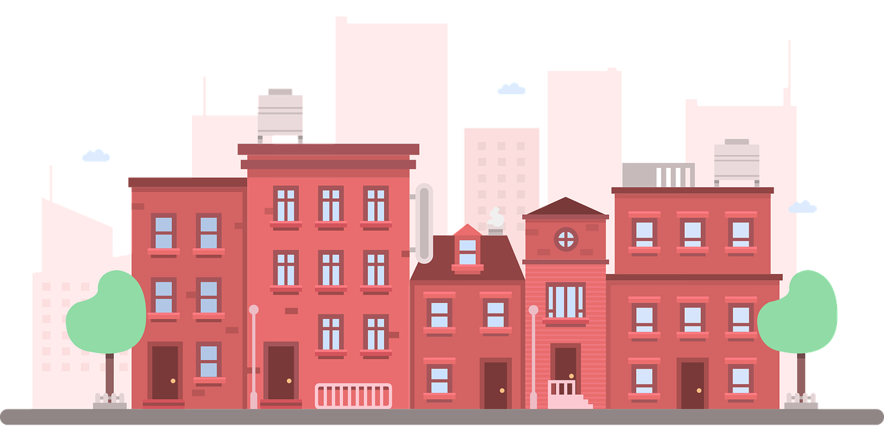 building clip art. Apartment clipart cute