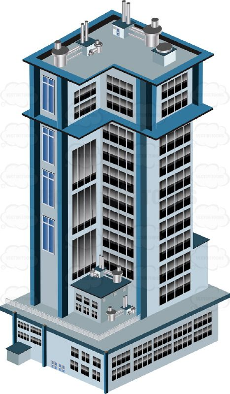 Light blue grey city. Apartment clipart firm
