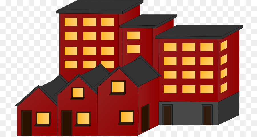 Apartment clipart flat. House building renting clip
