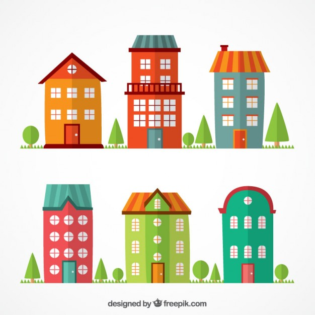 Building free download best. Apartment clipart flat