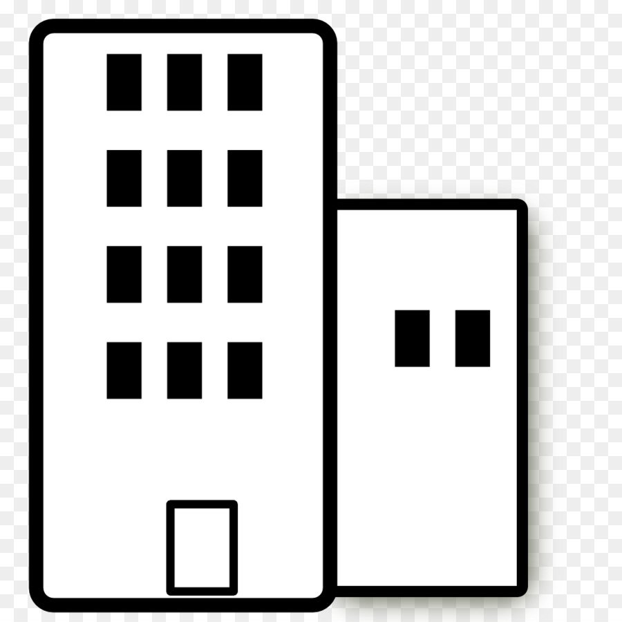 Apartment clipart high rise building. White clip art black