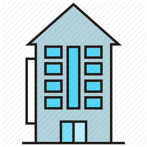 Apartment clipart hostel building. Iconfinder real estate by