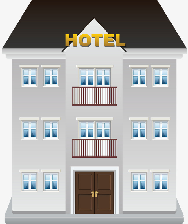 Building cartoon icon construction. Apartment clipart hotel