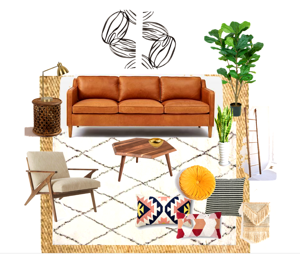 Apartment clipart living room. Glamorous boho chic plans