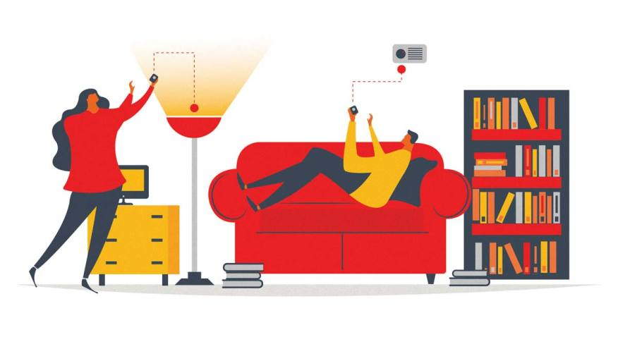 The lure of smart. Apartment clipart living room