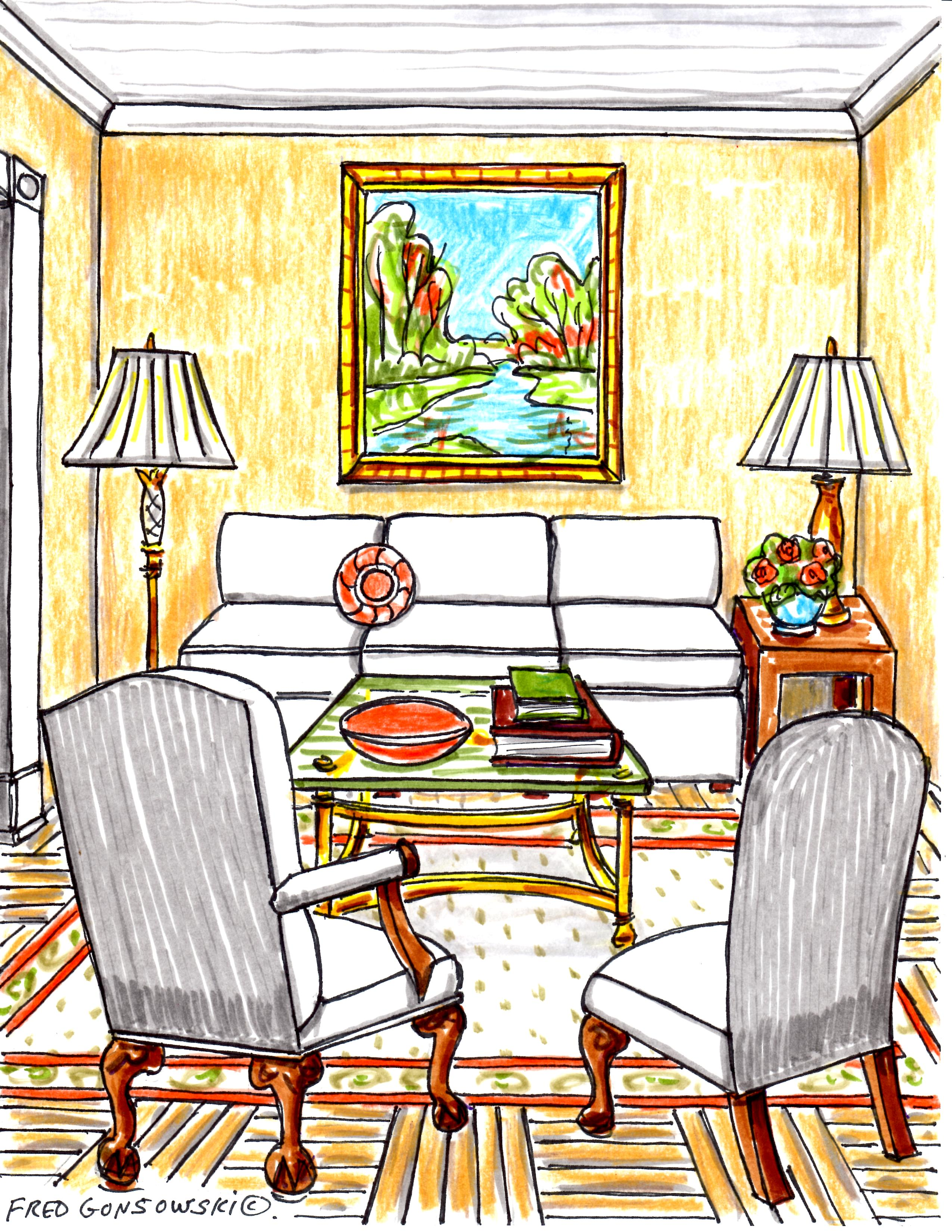 Interior decorating ideas for. Apartment clipart living room