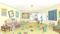 Apartment clipart messy. Living room cartoon conceptstructuresllc