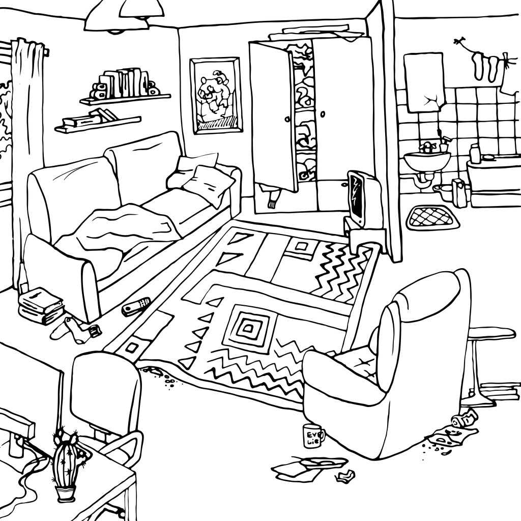 Apartment clipart messy. Five minute exercises to