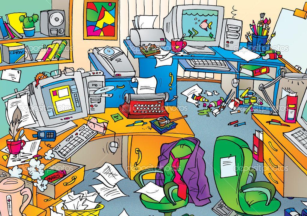 Describe este cuarto casa. Apartment clipart messy