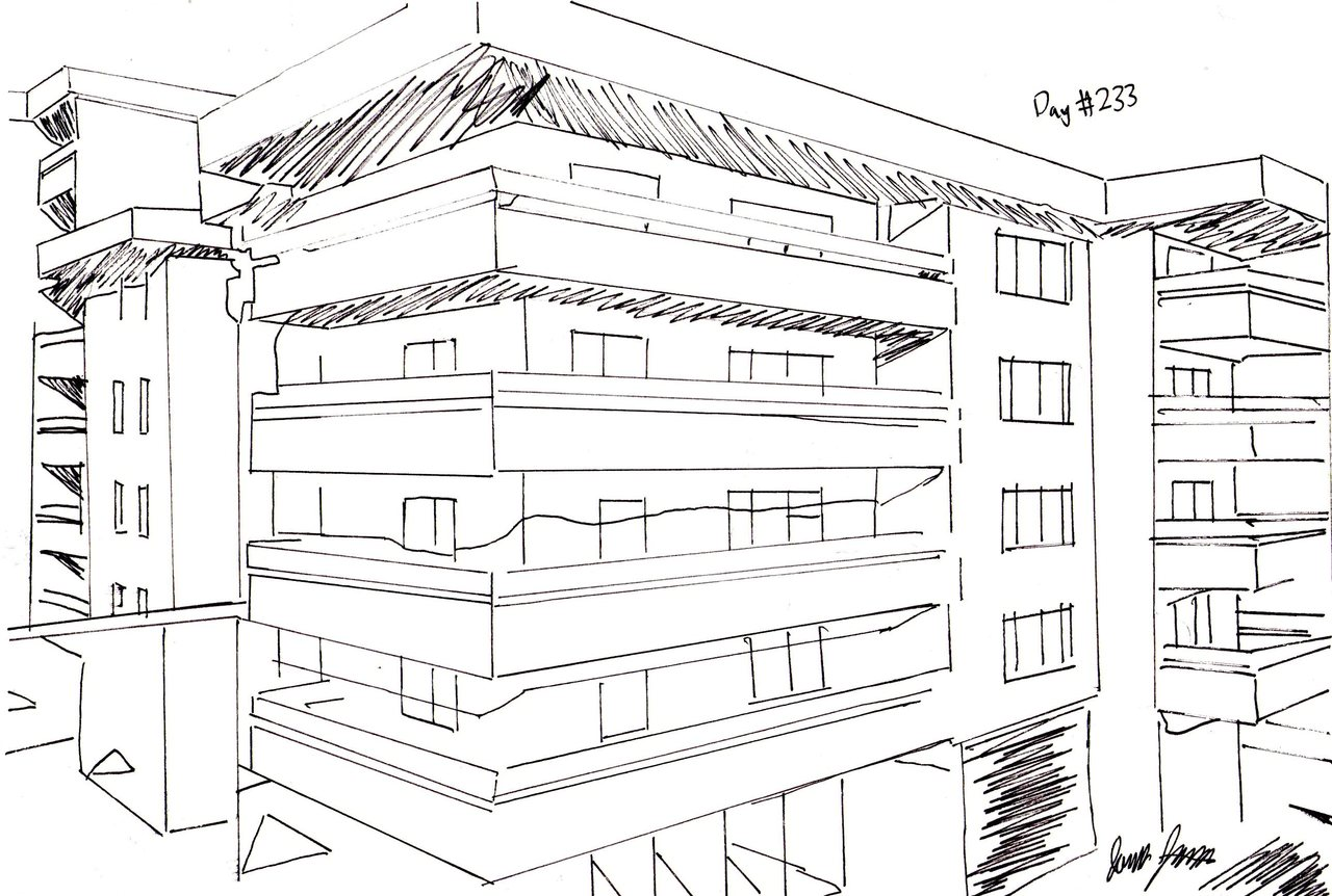 Days drawing little sketch. Apartment clipart old apartment