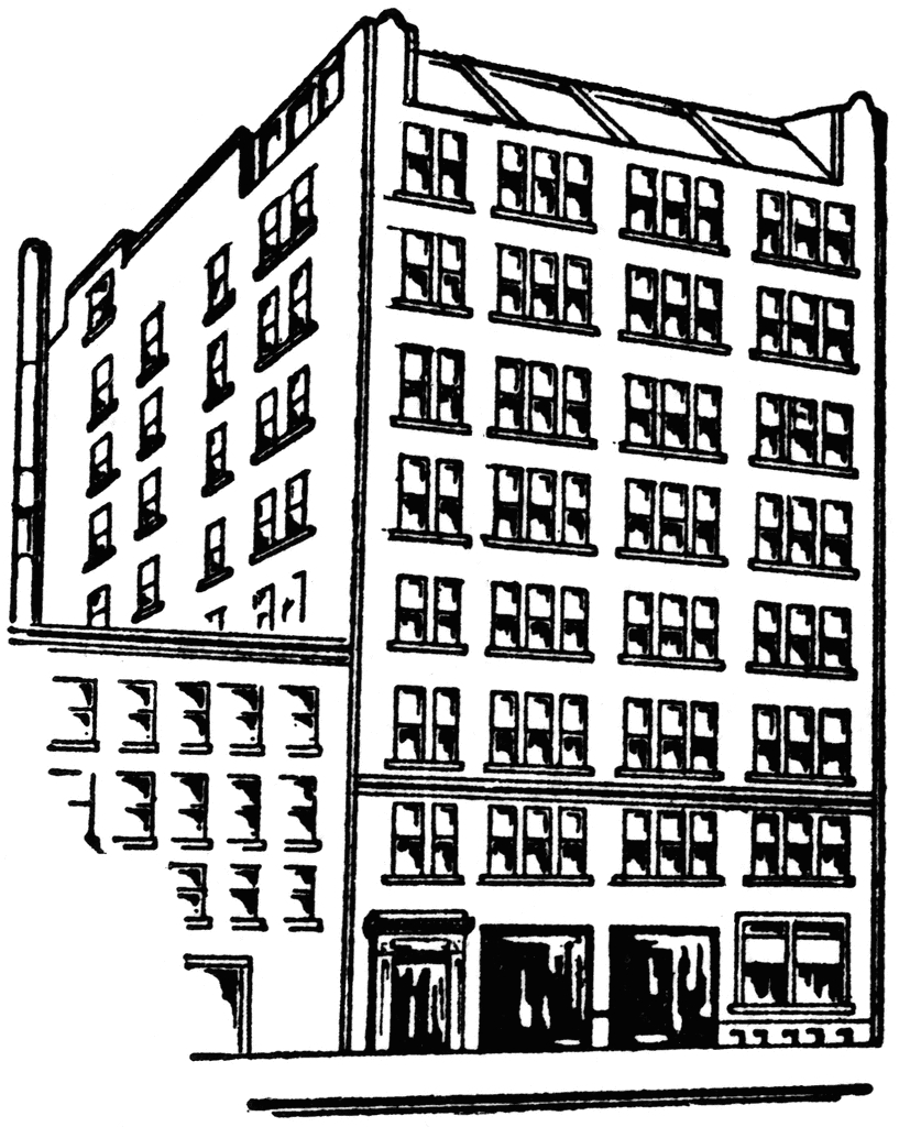 Part found your printable. Apartment clipart outline