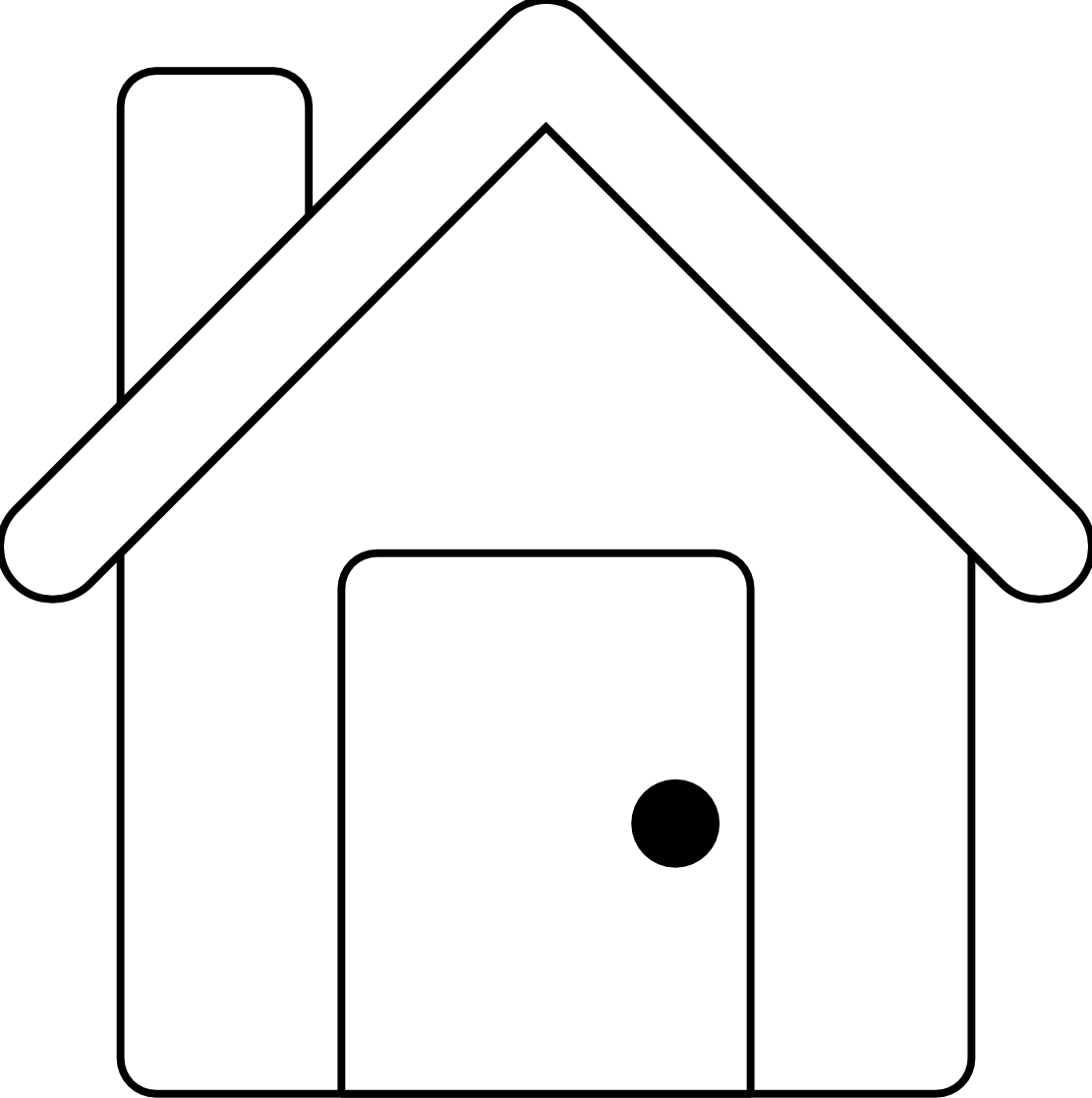 Apartment building black and. Home clipart outline