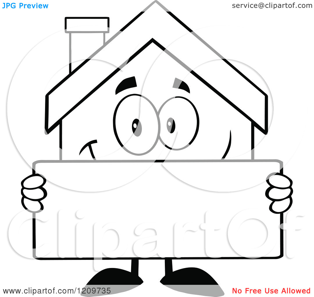 Building black and white. Apartment clipart outline