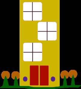 Apartment clipart outline. Simple