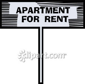 Apartment clipart rent clipart. For sign royalty free