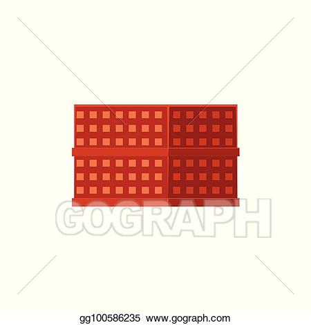 Eps vector flat house. Apartment clipart residential building