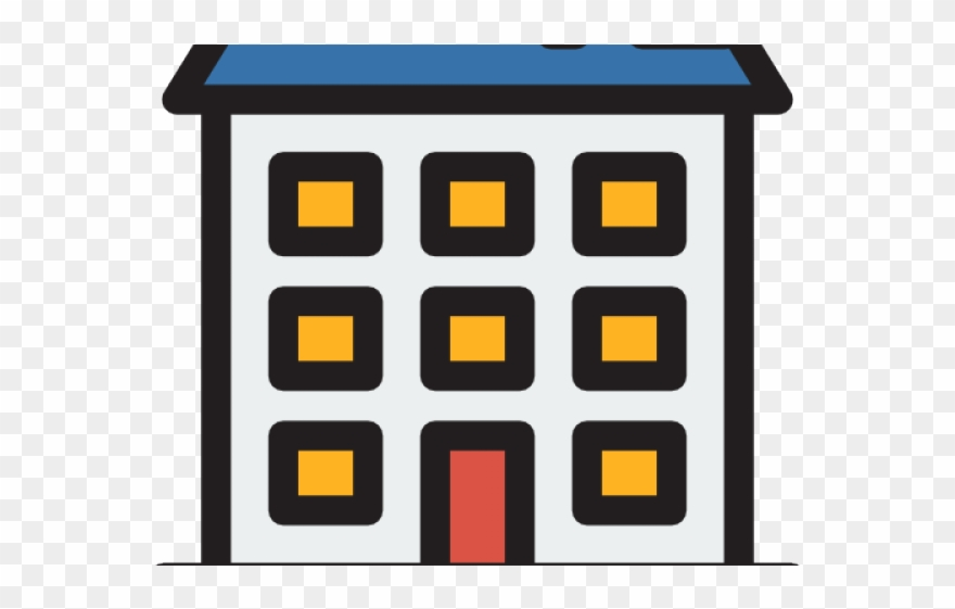 Apartment clipart residential building. Complex icon png