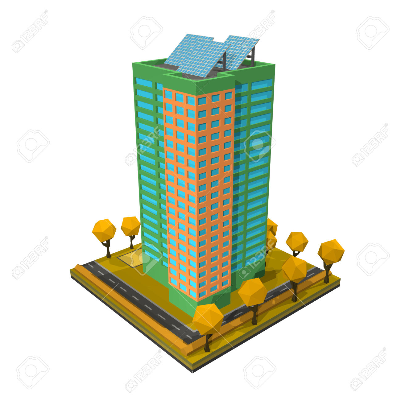 Free download best . Apartment clipart residential building