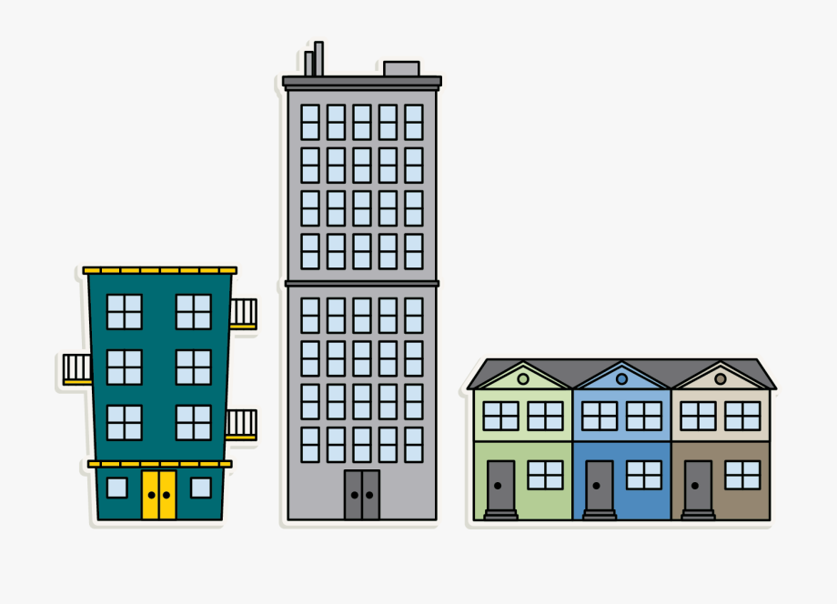 Apartment clipart single building. Png mart no background