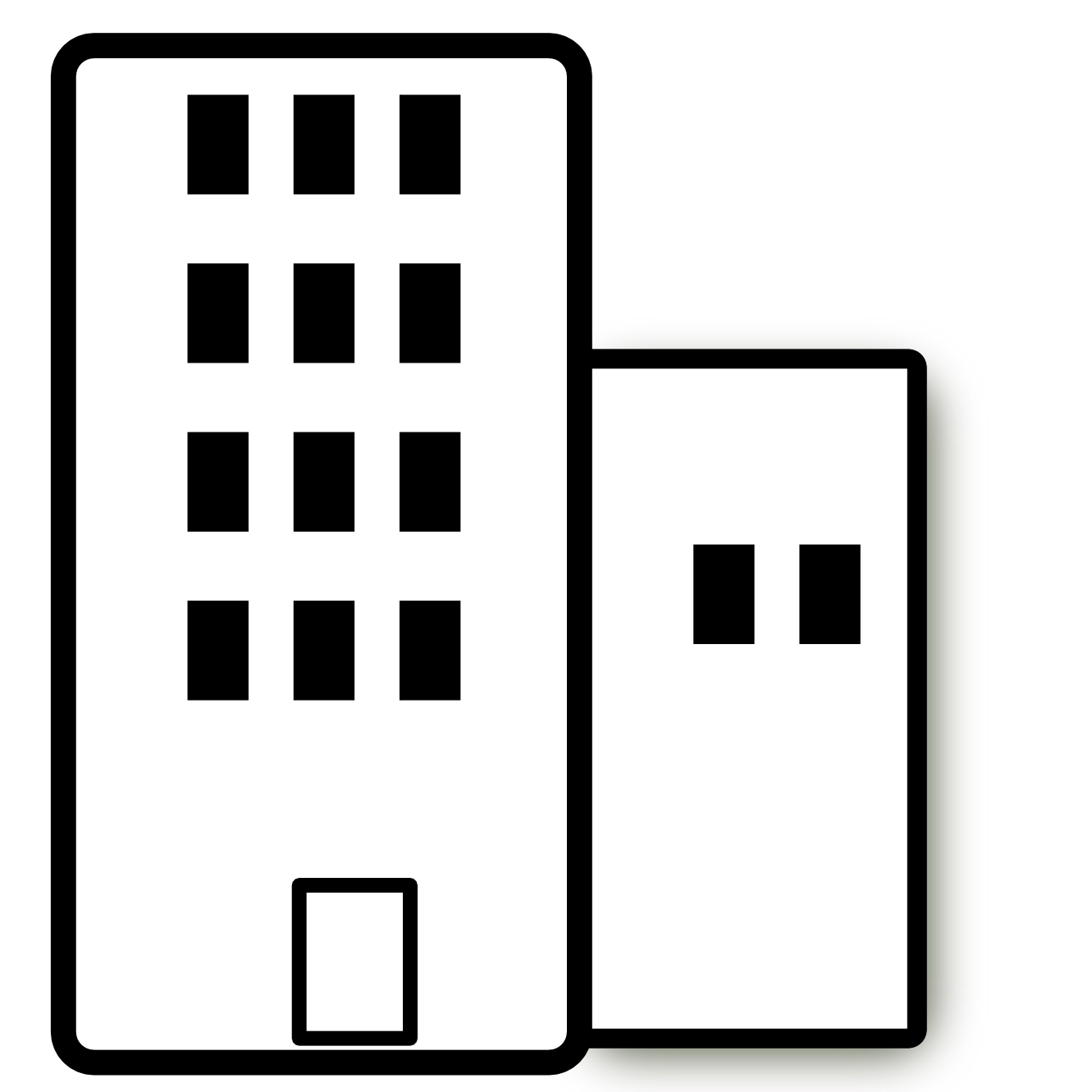 Hotel clipart hotel building. Apartment black and white