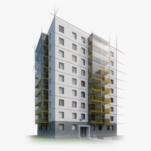 Apartment clipart single building. Rent block black and
