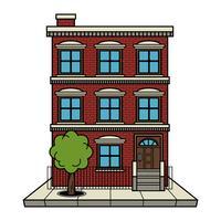 Building free vector art. Apartment clipart small apartment