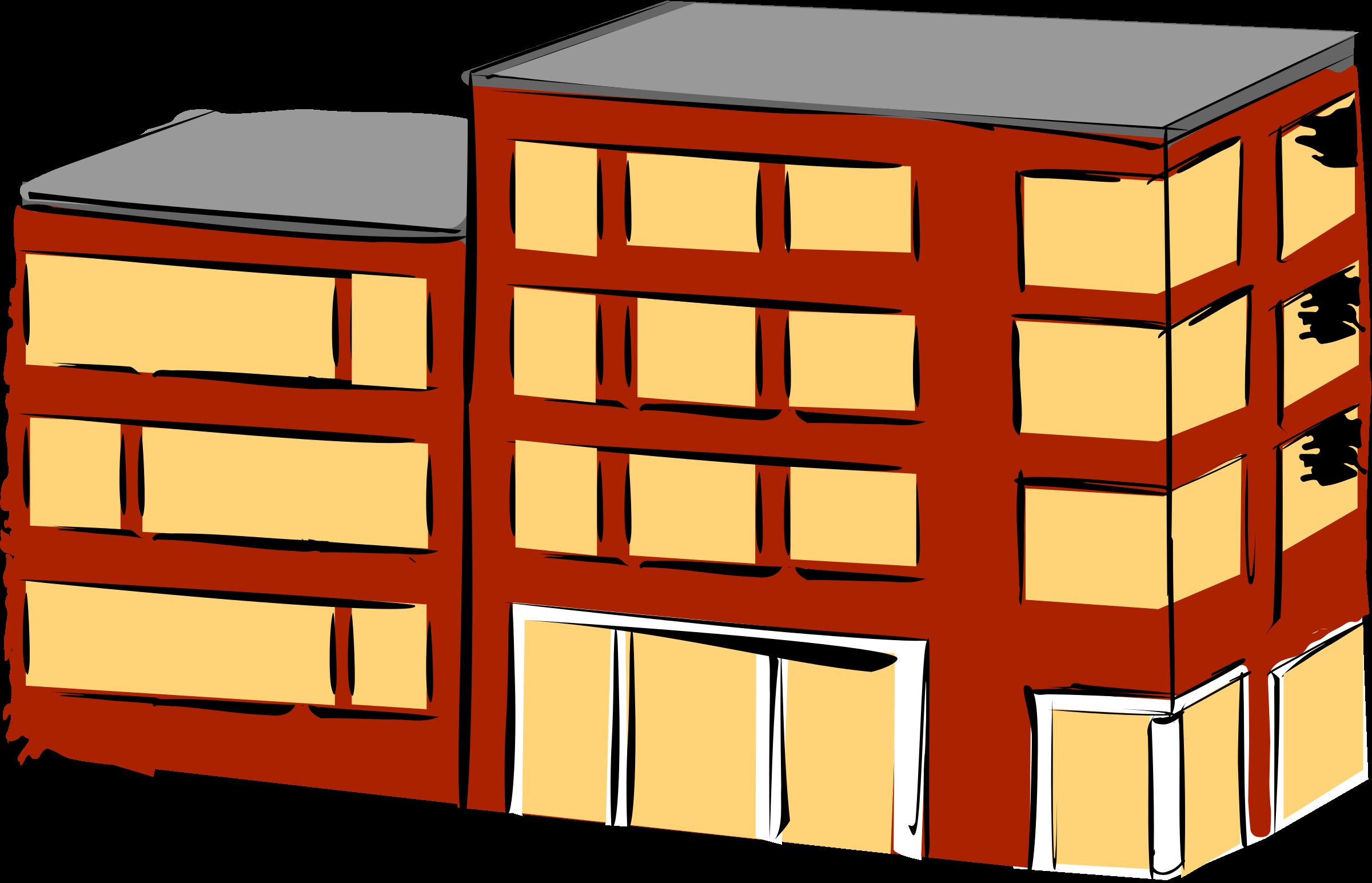Building big image png. Apartment clipart small apartment