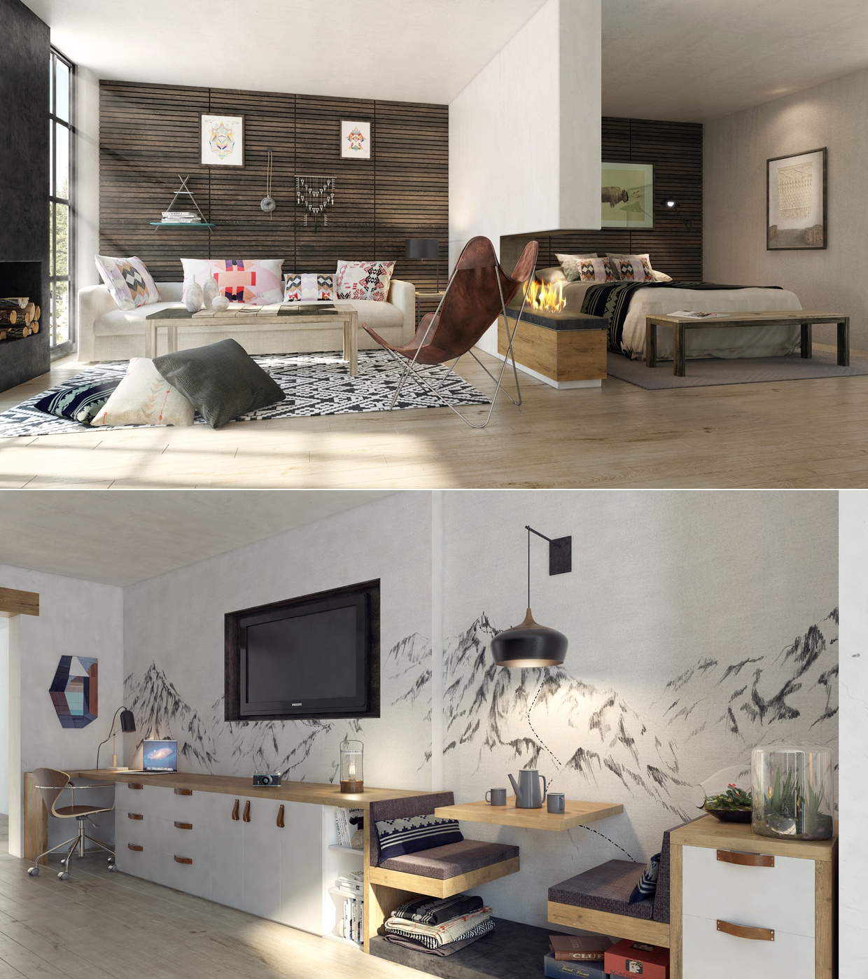 Apartment clipart small apartment. Masculine studio interior design