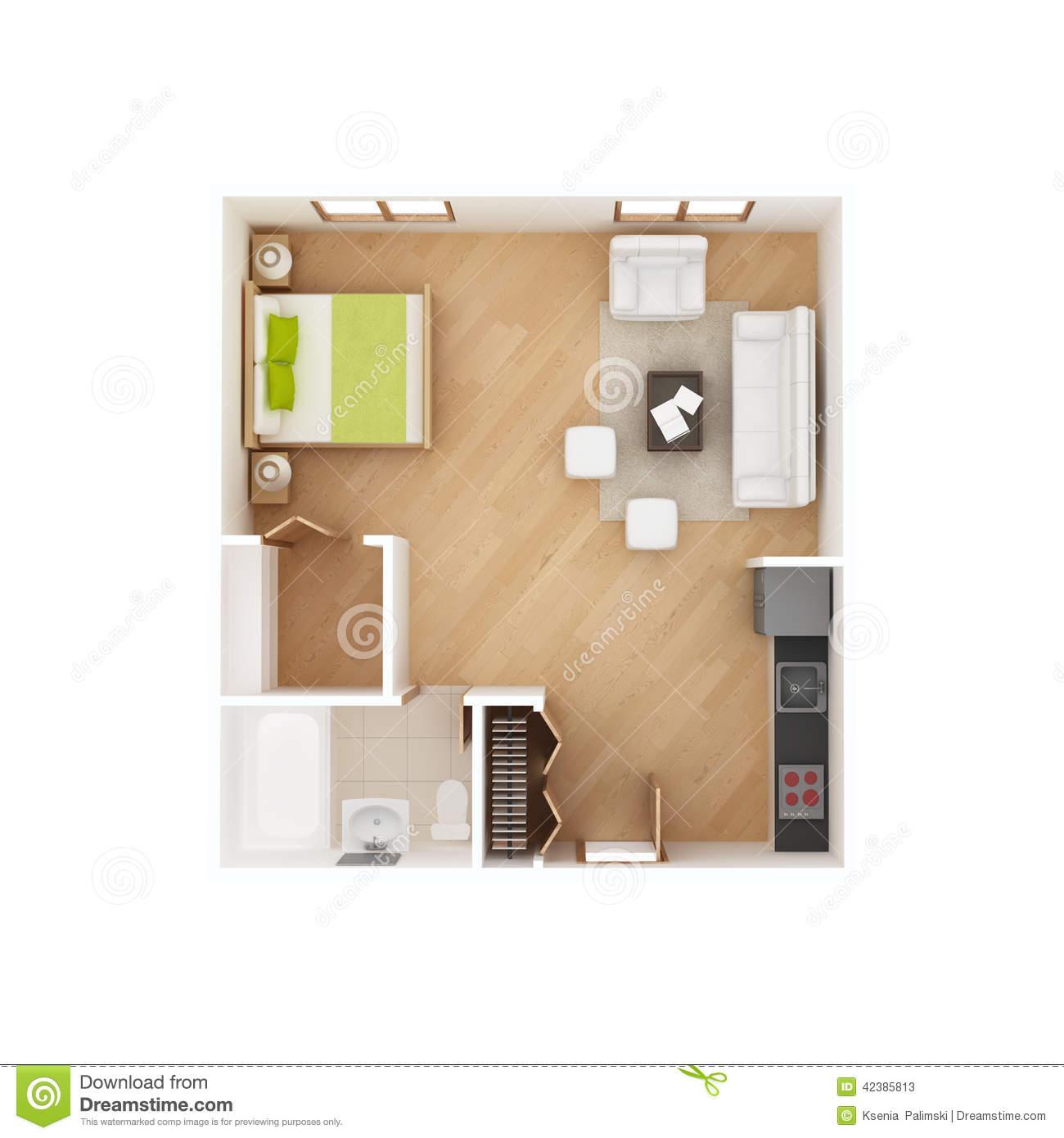Floor plan isolated white. Apartment clipart studio apartment