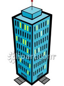 High rise building royalty. Apartment clipart tower block
