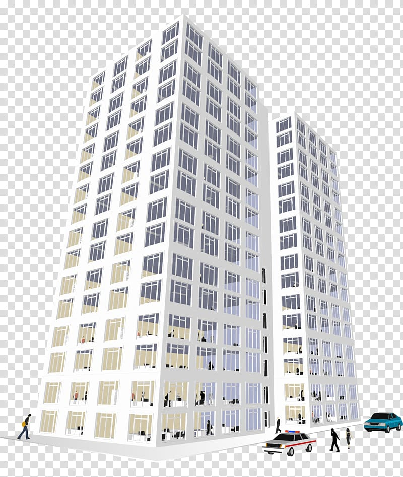 Apartment clipart tower block. Two white high rise