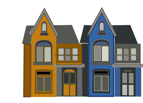 Apartment clipart townhouse. Homes clip art at