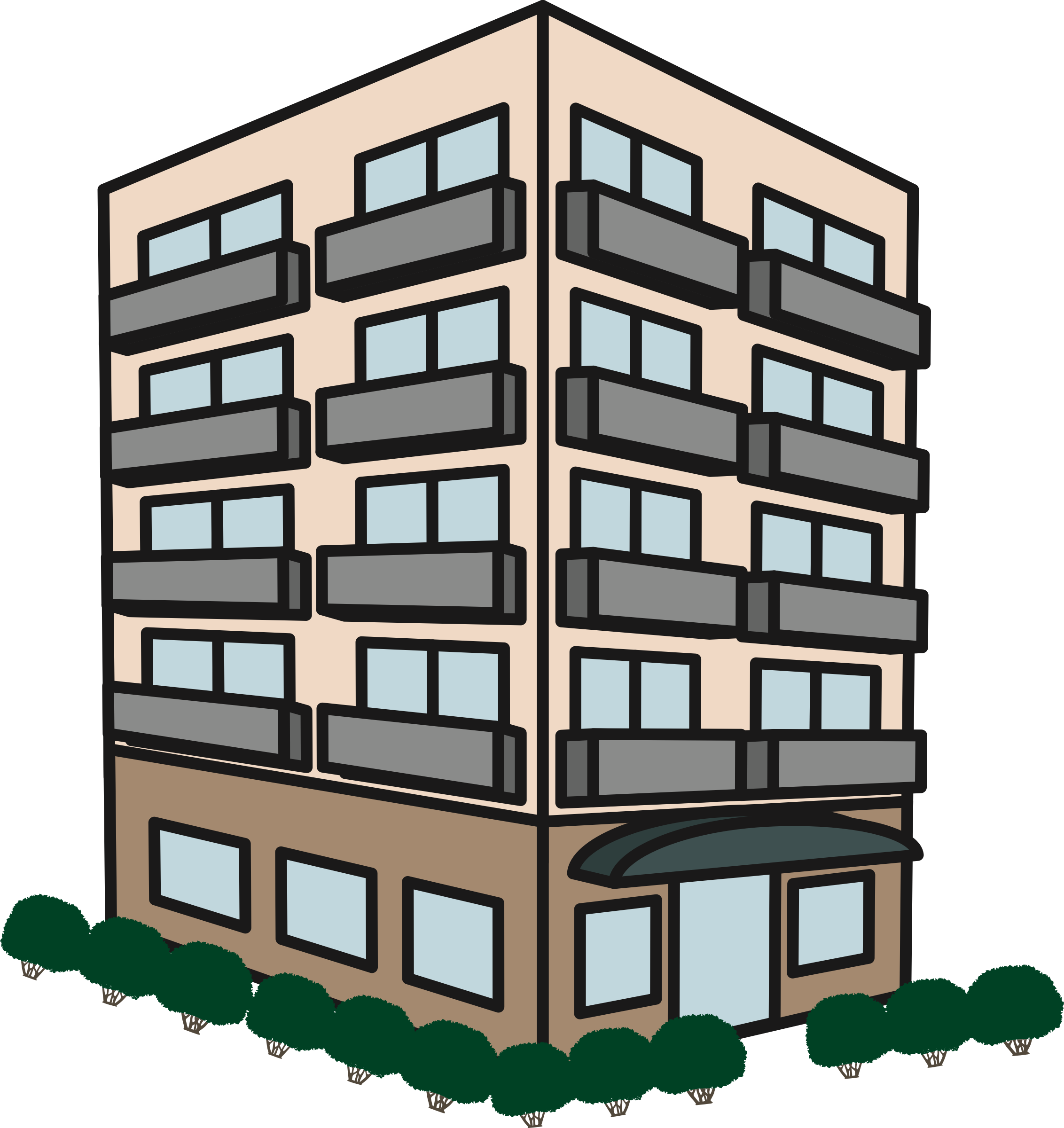 Building icons png free. Apartment clipart transparent
