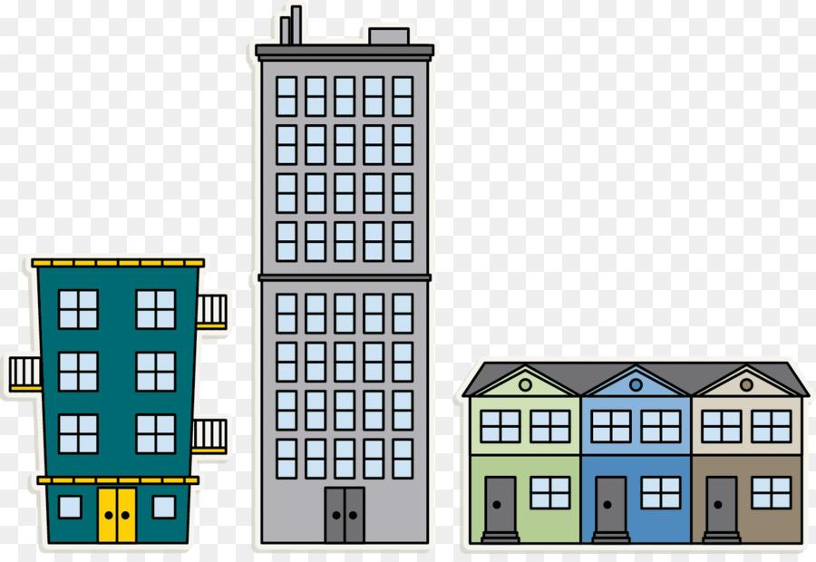Apartment clip art png. Buildings clipart transparent background