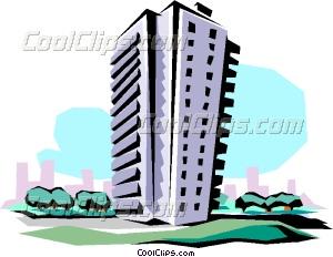 Apartment clipart vector. Building clip art