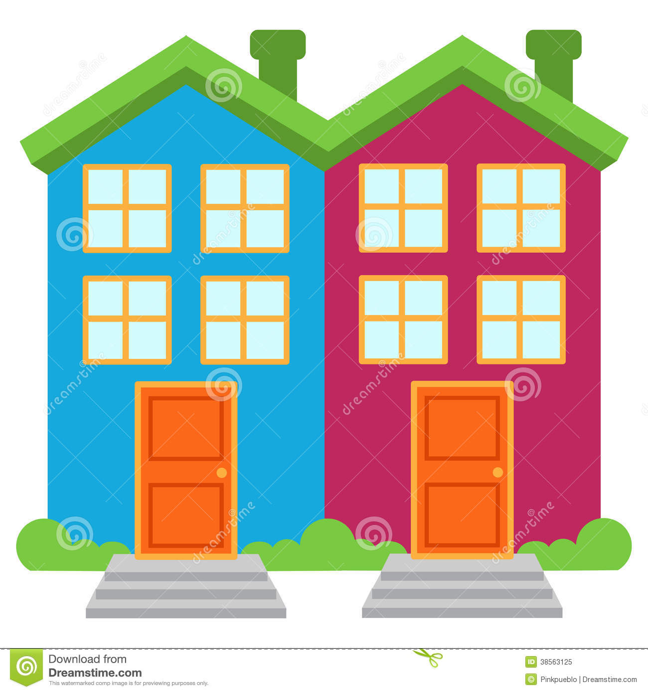 Complex townhouse pencil and. Apartment clipart vector