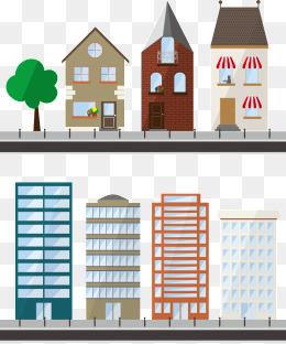 Apartment clipart vector. Building png vectors psd