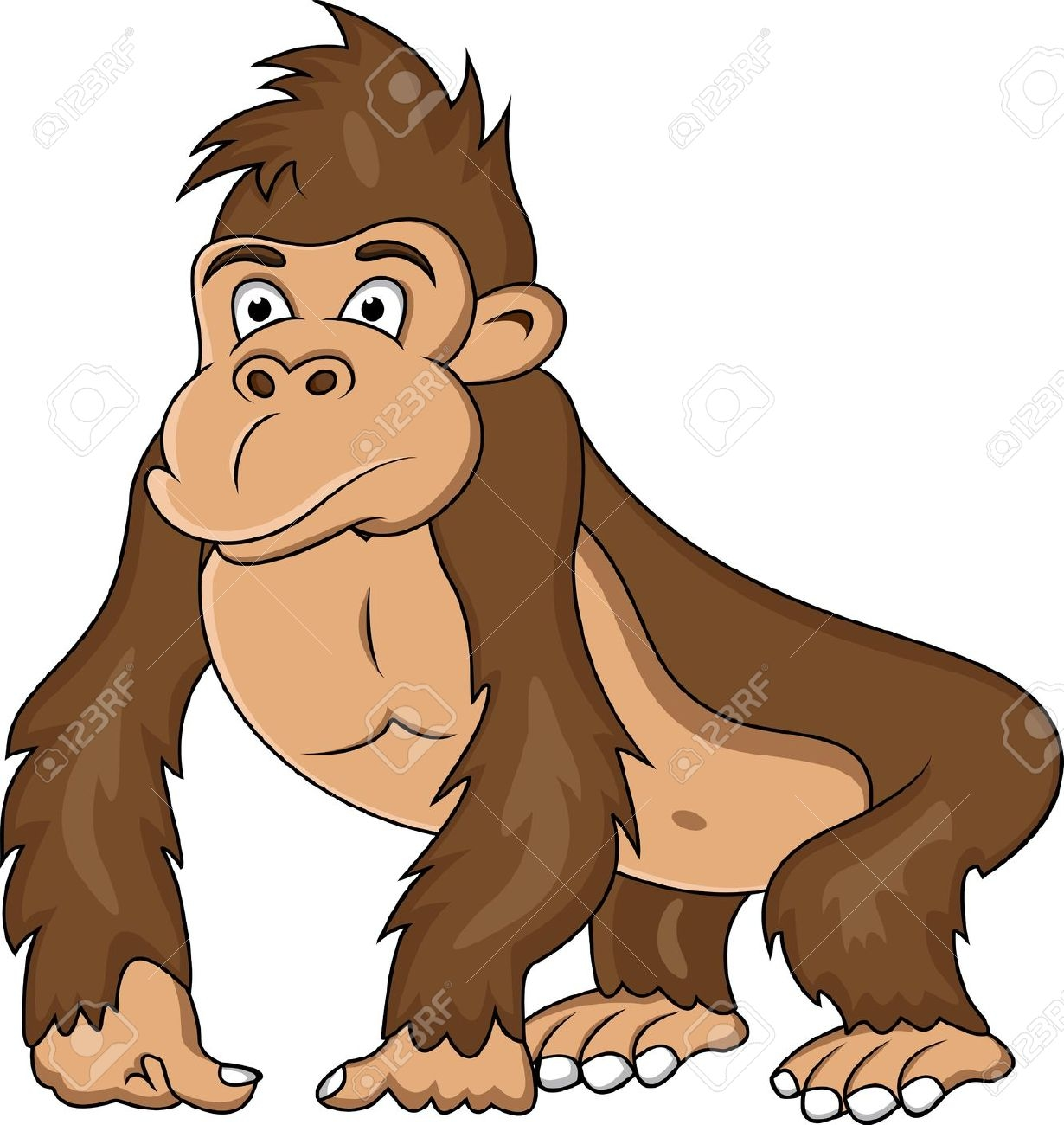 Fresh design digital collection. Ape clipart