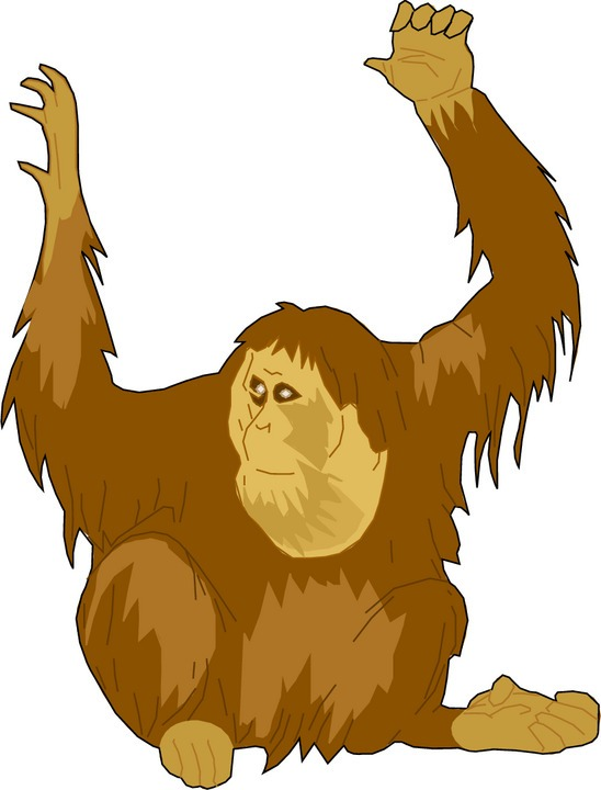 Ape clipart. Free
