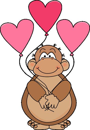 Ape clipart. Valentine s day clip