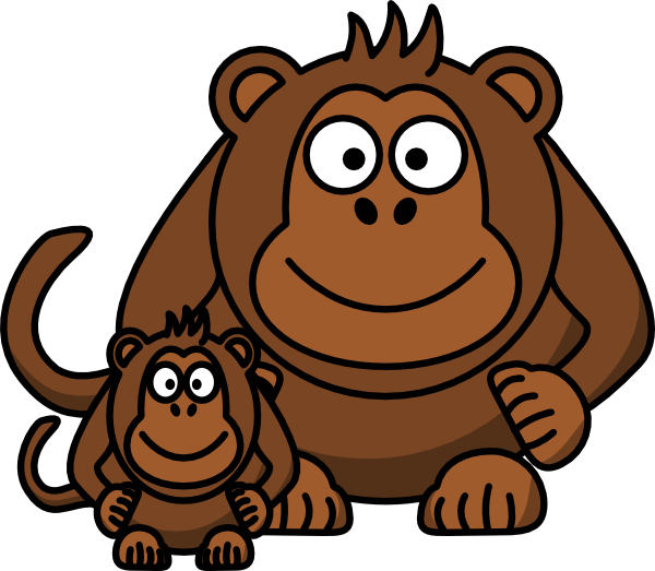 Baby clip art at. Ape clipart